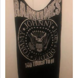 ramones Dresses - Ramones Blouse Tank Long Dress Shirt punk cover up